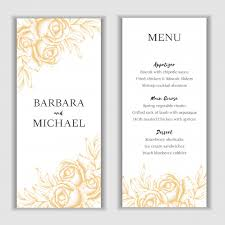 Menu Card Template Golden Floral Menu Card Template Vector Premium Download