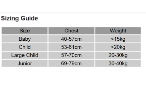 Crewsaver Size Chart Buoyancy Aids Inflatable Kayaks Uk