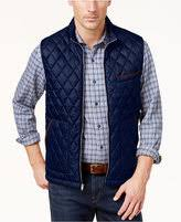navy quilted vest - ShopStyle & Tasso Elba Men's Quilted-Front Vest, Created for Macy's Adamdwight.com