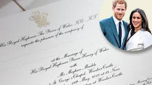 600 people are invited to the. Invitations Sent Out For Wedding Of Prince Harry And Meghan Markle The Times