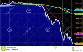 Downtrend Financial Failure Economic Crisis Stock Chart