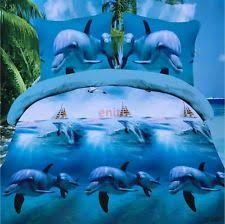 Dolphin Bedding Sets | eBay & Sweet Cute Dolphin Cotton Queen Size Bedding Sets Duvet Cover Pillowcases  As Pic Adamdwight.com