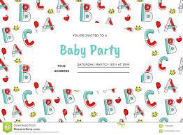children party invitation templates children party invitation stock vector illustration of balloon