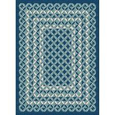 gct1026 5x8 5 x 7 medium geometric navy blue indoor outdoor rug garden city