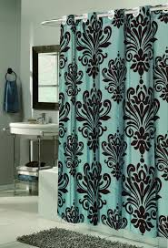 Carnation Home Fashions Inc Ez On Fabric Shower Curtains No Black And Turquoise Shower Curtain