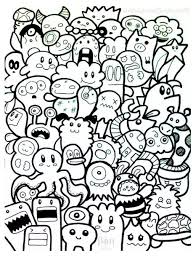 Small Picture Doodling Doodle art Coloring pages for adults JustColor Page 3