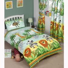 jungle tastic animal themed bedding bedroom single toddler
