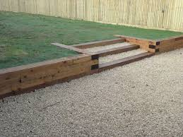 wood retaining wall backyard