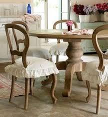 cute chair covers love the shabby farmhouse look