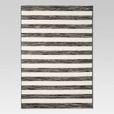 threshold worn stripe black outdoor rug