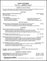 Sample Resume College Resumes And Cvs Career Services University Of Idaho