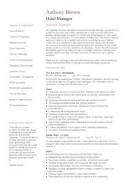 Hotel Resume Example Cleaner Sample Resume Resume Example Objective