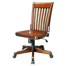 Wooden Office Chair Old Chairs Vintage Leather  Style School Desk Wood Swivel   For Sale I50