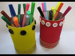 DIY : #37 Pencil Holder From RECYCLED Snack Can