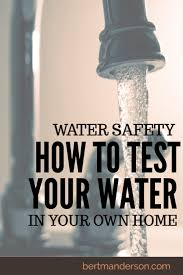 how to test the safety of your water at home in home diy water