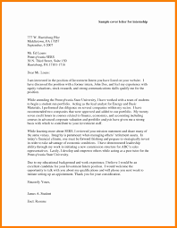 8 Accounting Internship Cover Letters Letter Signature