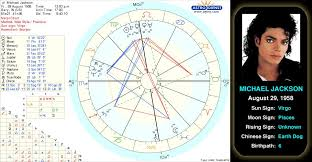 Michael Jackson Astrology Death Chart Michael Jacksons Birth Chart Dubbed The King Of Pop