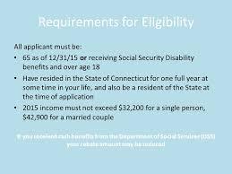 Rent Rebate Form Magnificent Renters Rebate Program State Of Connecticut Purpose The Rent Rebate