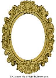 Ornate Gold Frame Oval 1 by EveyD on DeviantArt