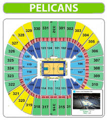 Smoothie King Arena Seating Chart New Orleans Pelicans Seating Chart Seating Chart