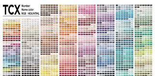 Pantone Brown Color Chart Color Table Pantone Fhi System Vector Color Palette With
