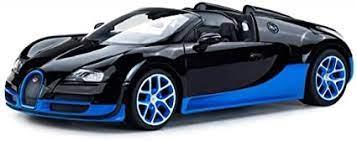 1/24 scale bugatti chiron gt miniature replica collection diecast car model toys. Amazon Com Radio Remote Control 1 14 Bugatti Veyron 16 4 Grand Sport Vitesse Licensed Rc Model Car Black Blue Toys Games