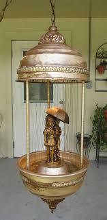 vtg rare creators inc oil rain lamp kids under umbrella hanging swag lamp 36