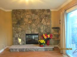 reface brick fireplace before and after resurface with wood refinish ideas reface brick fireplace