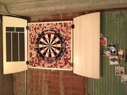 Dart Board Cabinet With Chalkboard Dart Board John Can Make It