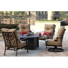darlee santa anita 5 piece cast aluminum patio fire pit conversation seating set