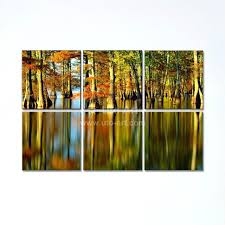 multiple piece canvas wall art home decoration painting custom canvas prints of forest tree multiple panel modular wall pictures for multiple panel
