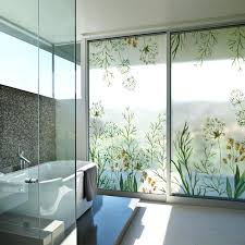 Bathroom Window New Coloured Drawing Or Pattern Glass R Without Glue Film Balcony Door