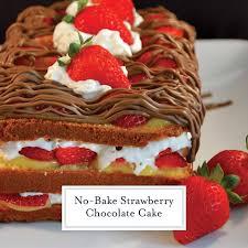 No Bake Strawberry Chocolate Cake Easy No Bake Dessert Recipe