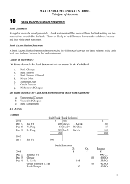 Chapter 10 Bank Reconciliation Statement