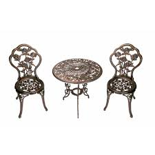 oakland living rose 3 piece patio bistro table set