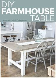 DIY Weathered Farmhouse Table -- Add a chic dining room table to complete  any kitchen