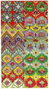 Persian Design Fabric Sheet Of Designs For Textile Fabrics Of A Persian Designer