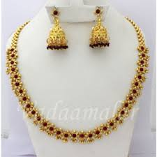 ethnic indian short necklace with earring set red stone micro gold plated