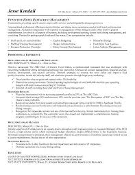 fast food restaurant manager resume restaurant manager resume example examples of resumes
