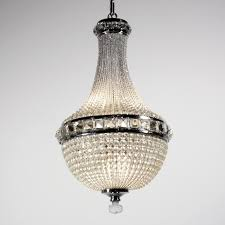 sold remarkable antique four light crystal basket chandelier c 1905