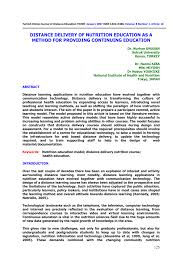 development of a master s in public health nutrition degree program using distance education request pdf
