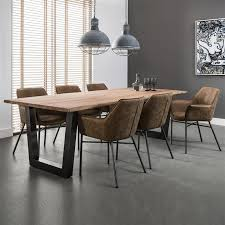 industrial dining furniture. Perfect Dining Large Industrial Dining Table Solid Acacia Top And Gun Metal Steel Legs On Furniture H