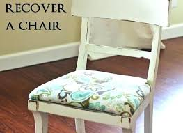how to reupholster a dining room chair seat and back recover foam