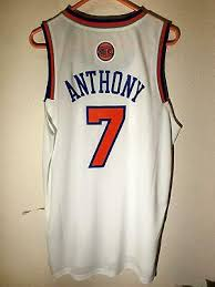 Adidas NBA Swingman New York Knicks Carmelo Anthony Latino noches Jersey  Blanco XL | eBay