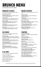 Breakfast Menu Template New Restaurant Breakfast Menus Printables And Menu