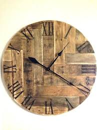 reclaimed wood wall clock rustic decor pallet large home clocks ideas giant p