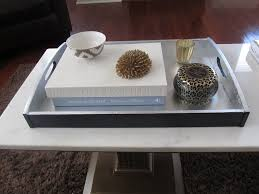 Decorating With Silver Trays Simple DIY Square Coffee Table Tray Painted With Black And White 38