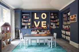chic playroom with lots of color