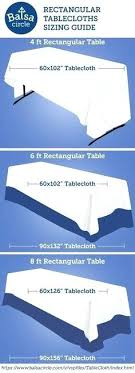 Rectangle Tablecloth Chart Tablecloth For Rectangle Table Desserttruck