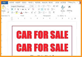 Free Printable Vehicle For Sale Signs Download Them Or Printgarage